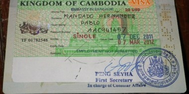VISA from the Cambodian embassy on Bangkok