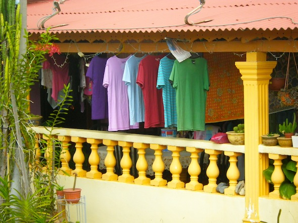Colorful clothes drying in Melaka