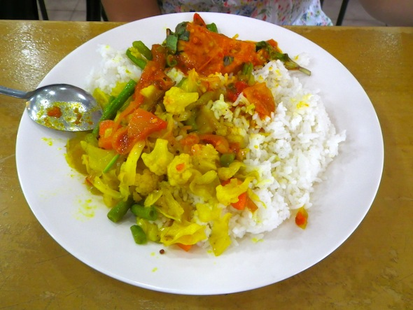 Malaysian rice with veggies