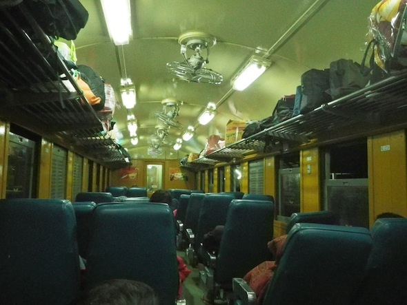 13 hour train from Bangkok to Ubon Ratchathani