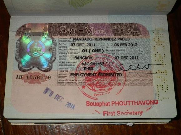 VISA for Laos