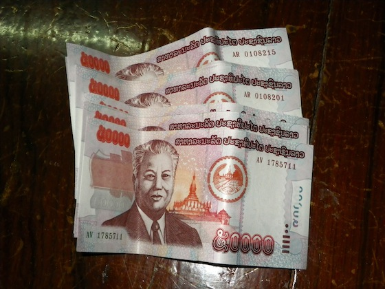 In an ATM I got 2 million Lao kips. I became millionaire!