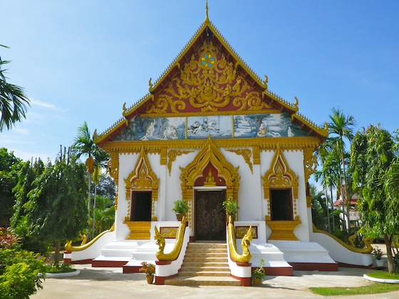 One of the first Lao typical temple we found
