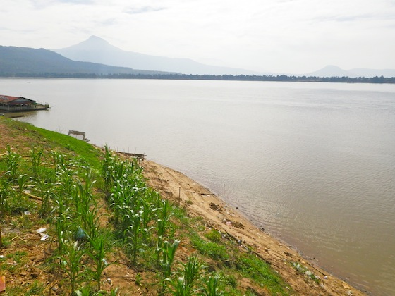 Watching the Mekong river for the first time
