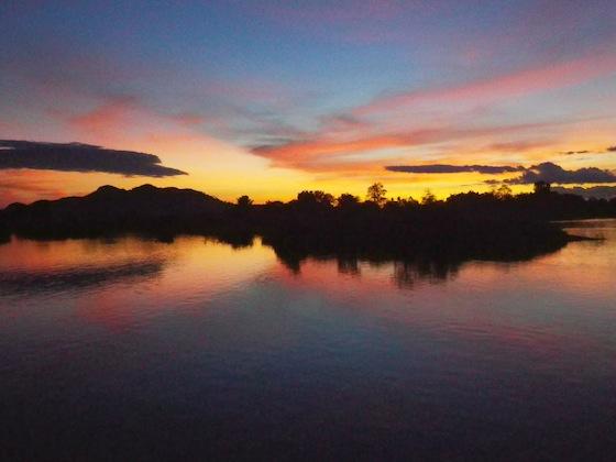 Sunset in Don Det, 4000 Islands, Laos