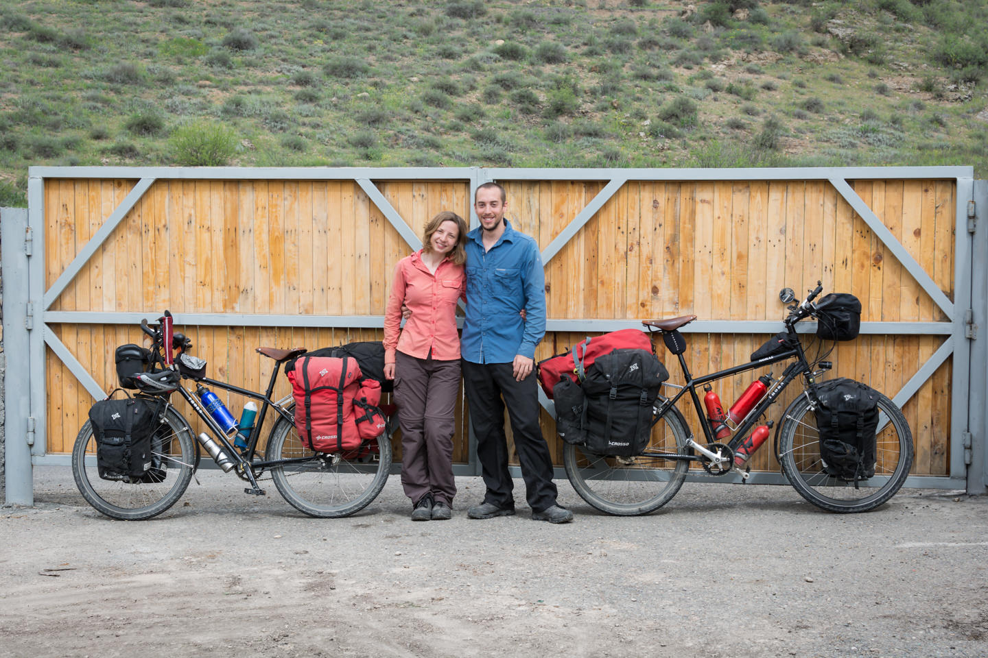 Pablo and Ilze are traveling by bicycle around the world