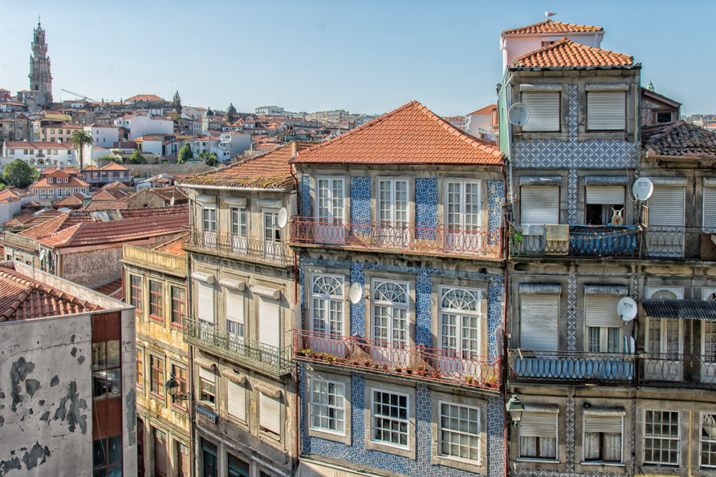 Colorful old Porto buildings