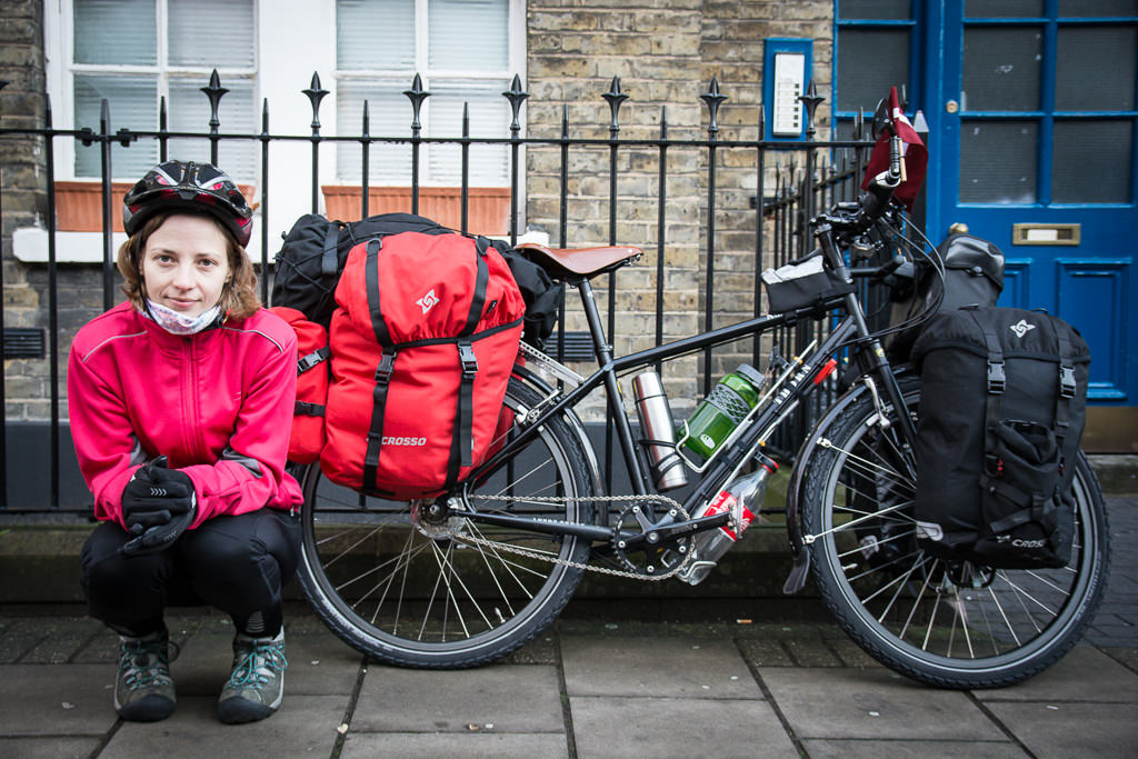 Starting to cycle around the world from London