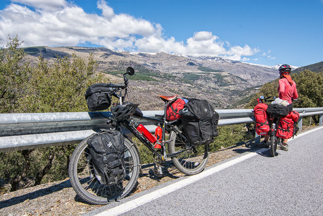 Bicycle touring in Sierra Nevada