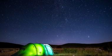 Wild camping under 1000 stars