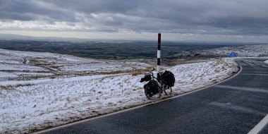 Winter cycling in England