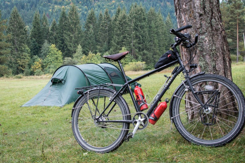 Bicycle and camping